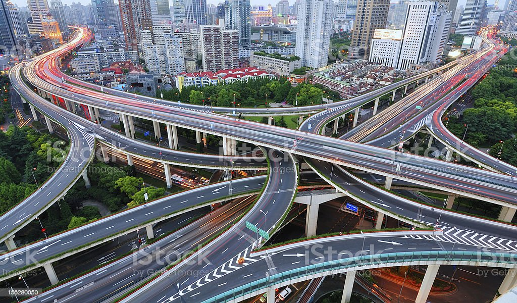 Elevated roads in Shanghai royalty-free stock photo