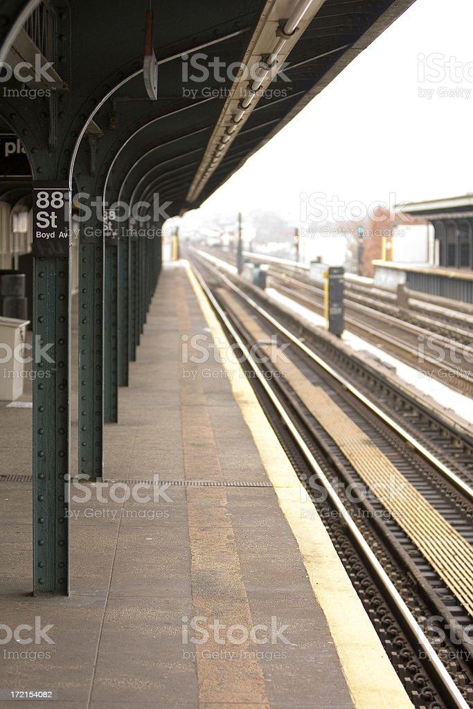 Elevated subway station royalty-free stock photo