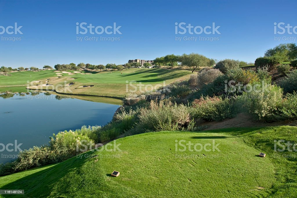 Elevated Tee Box royalty-free stock photo