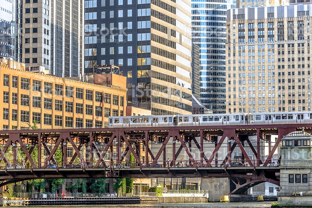 Elevated Train stock photo