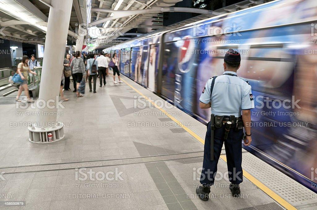 Elevated Train Platform stock photo