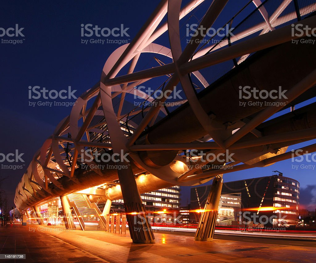 Elevated tram line royalty-free stock photo