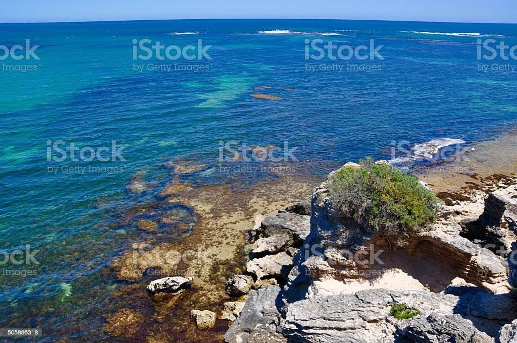 Elevated View at Cape Peron stock photo