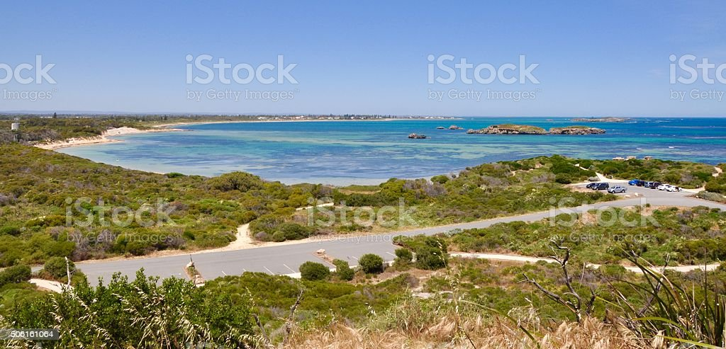 Elevated View: Cape Peron, Western Australia stock photo