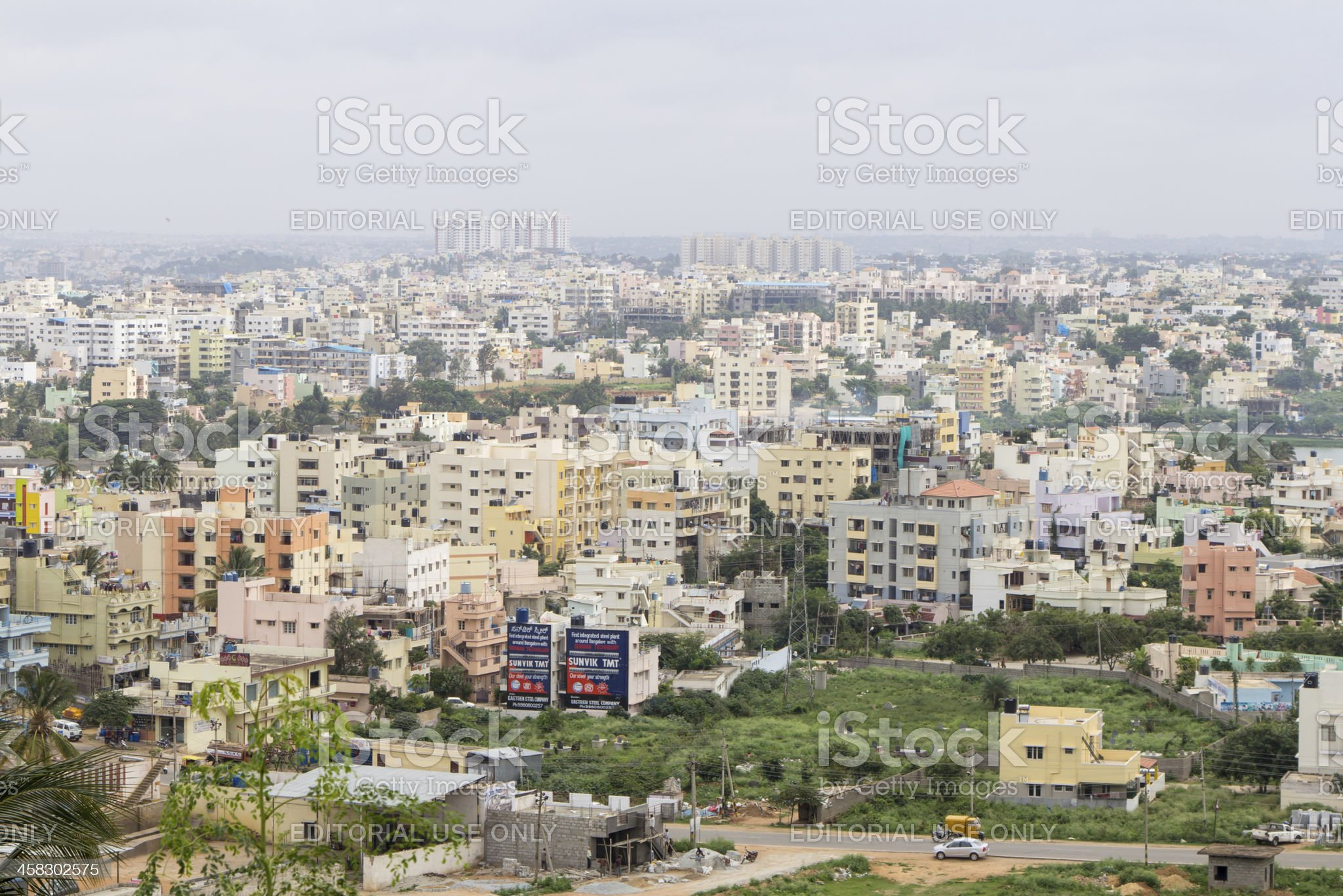 Elevated view of Bangalore royalty-free stock photo