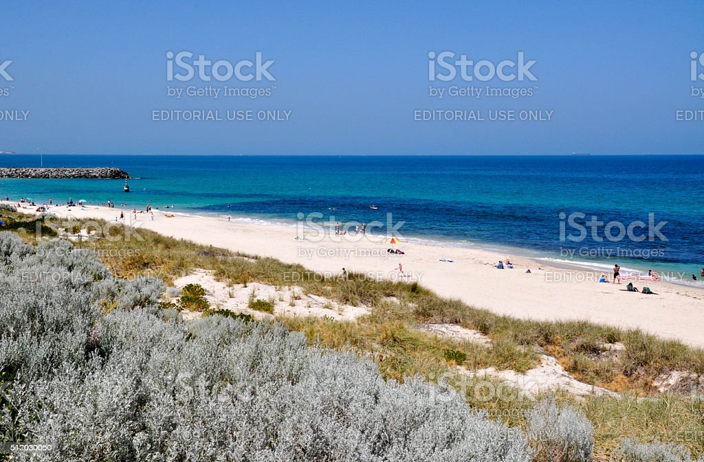 Elevated View of Cottesloe Beach stock photo