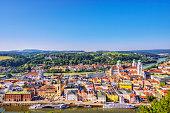 Elevated view on Passau