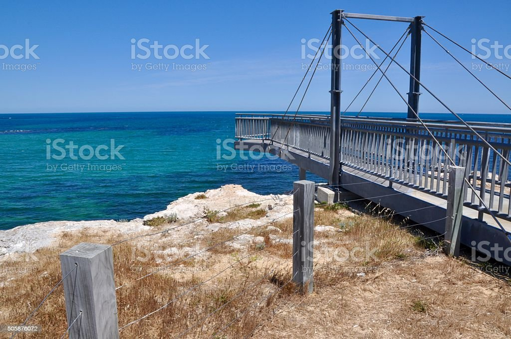Elevated Viewing Platform: Cape Peron, Western Australia stock photo