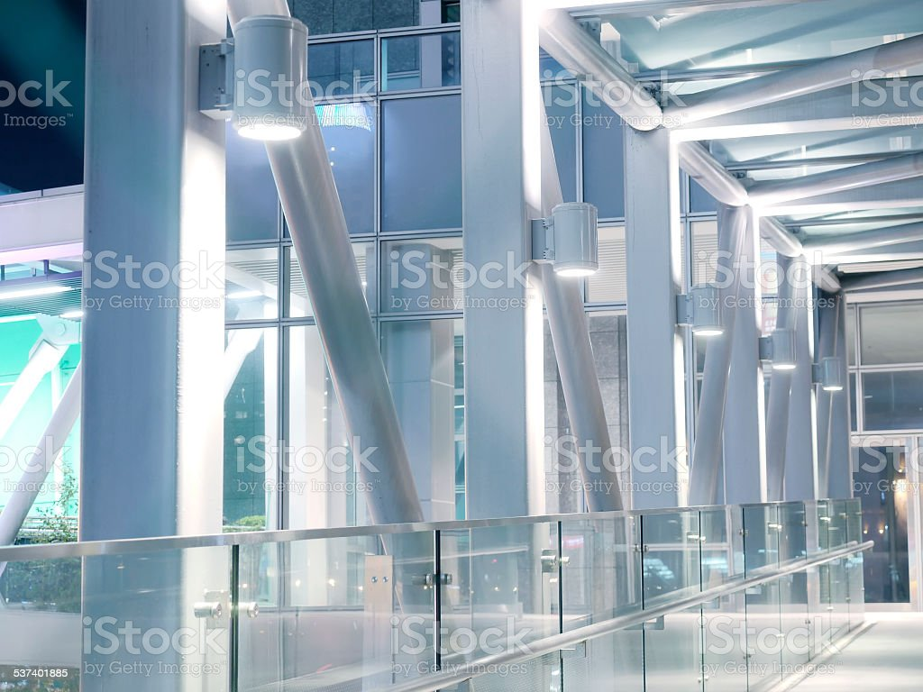 Elevated walkway stock photo