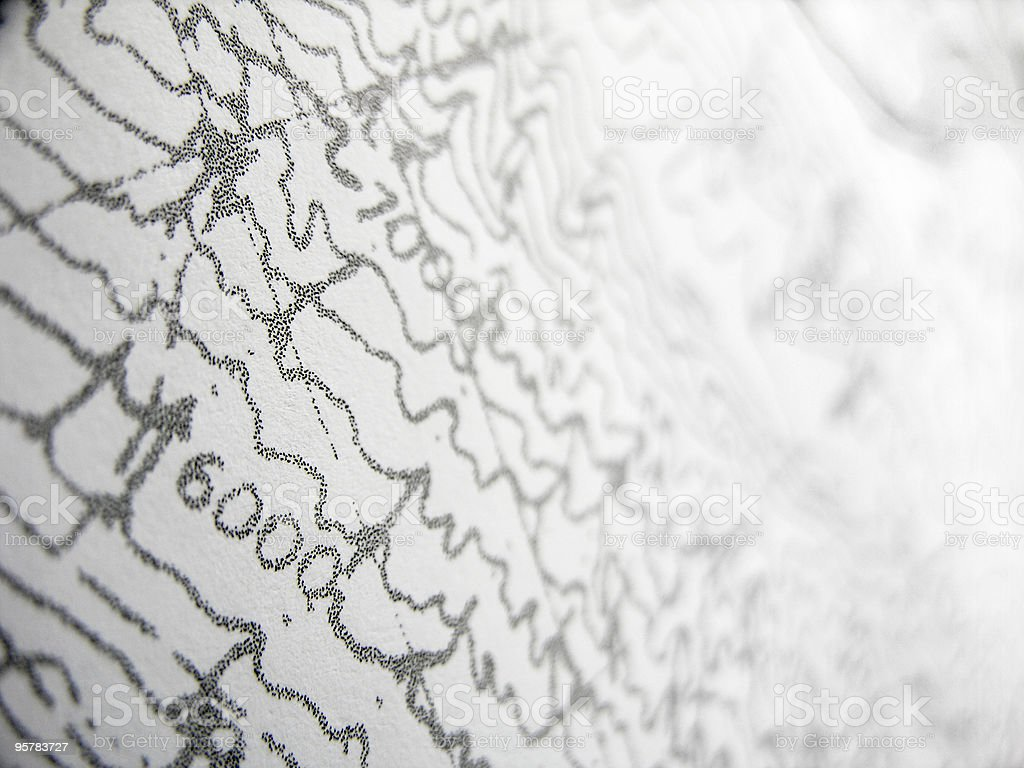 Elevation Lines on Topographic Map royalty-free stock photo
