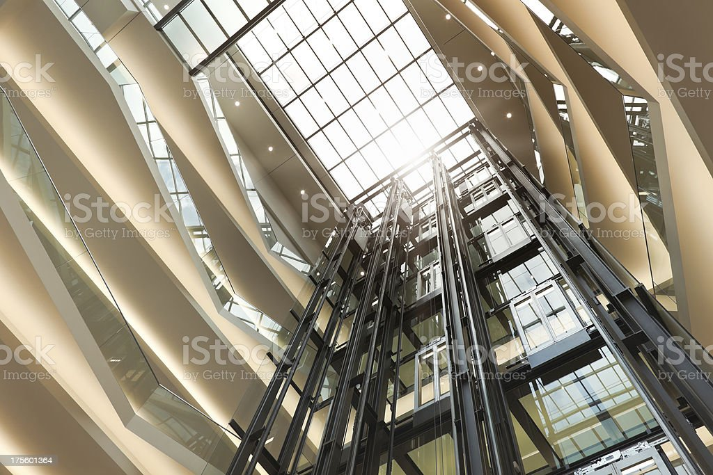 Elevator and escalators royalty-free stock photo