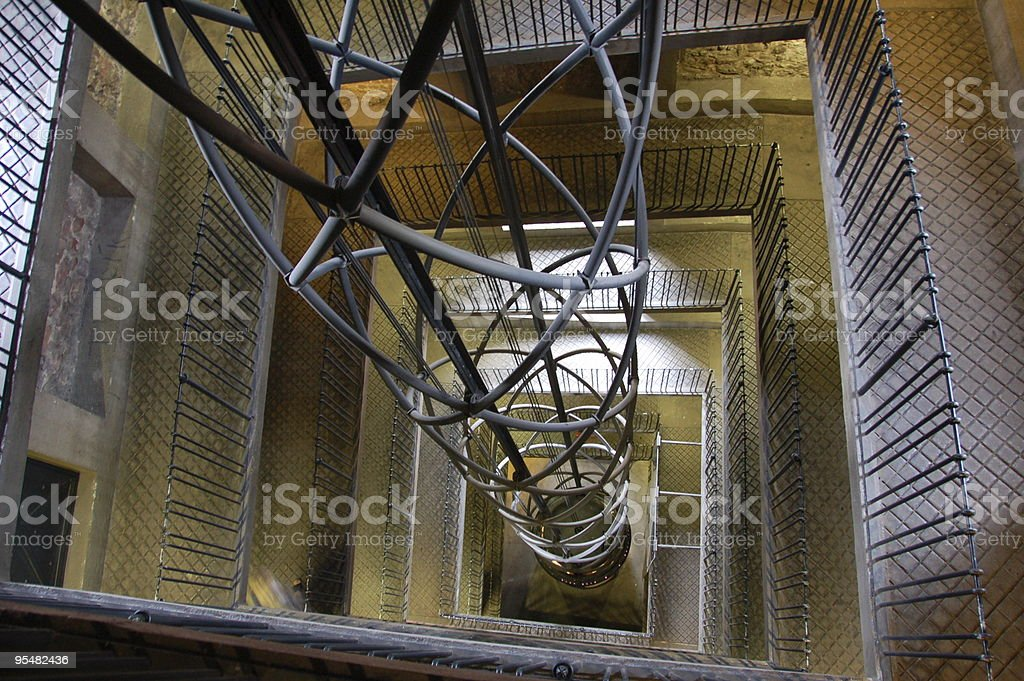 Elevator and stairs stock photo