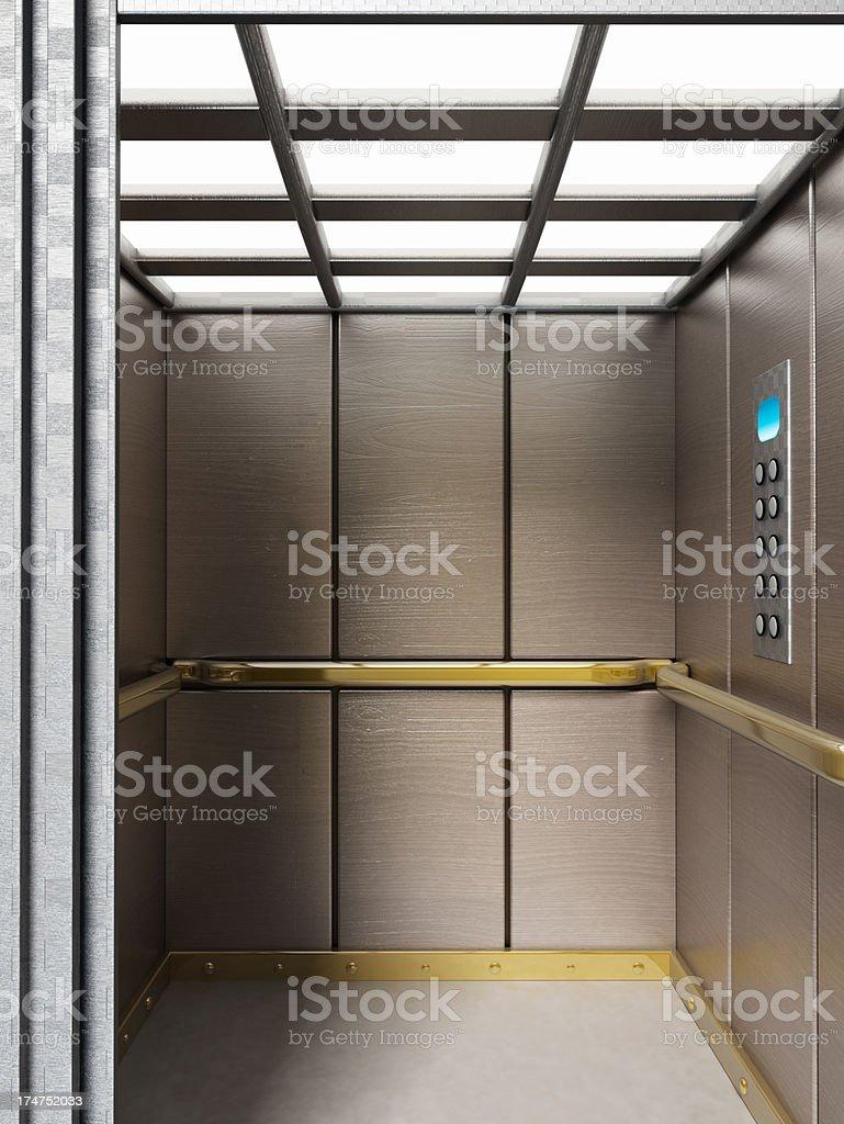 Elevator cabin stock photo