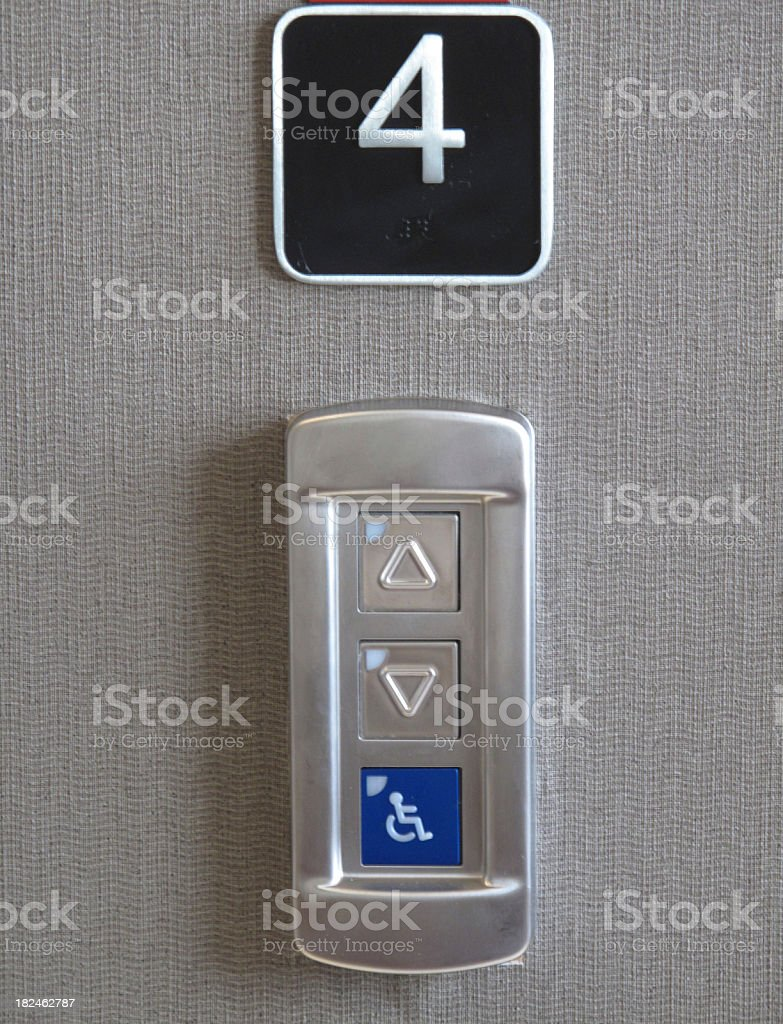 Elevator Call Buttons stock photo