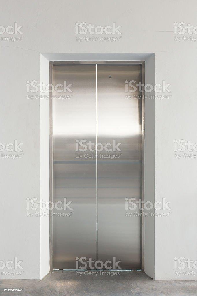 Elevator door office stock photo