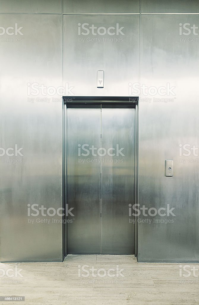 Elevator door stock photo