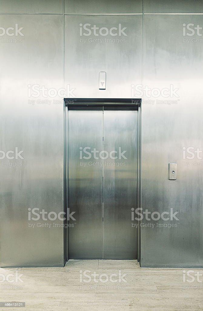 Elevator door stock photo