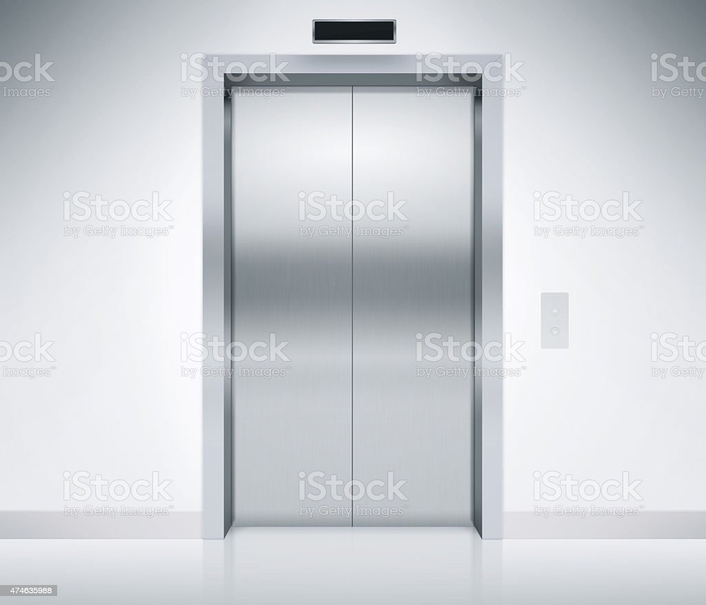 Elevator Doors Closed stock photo