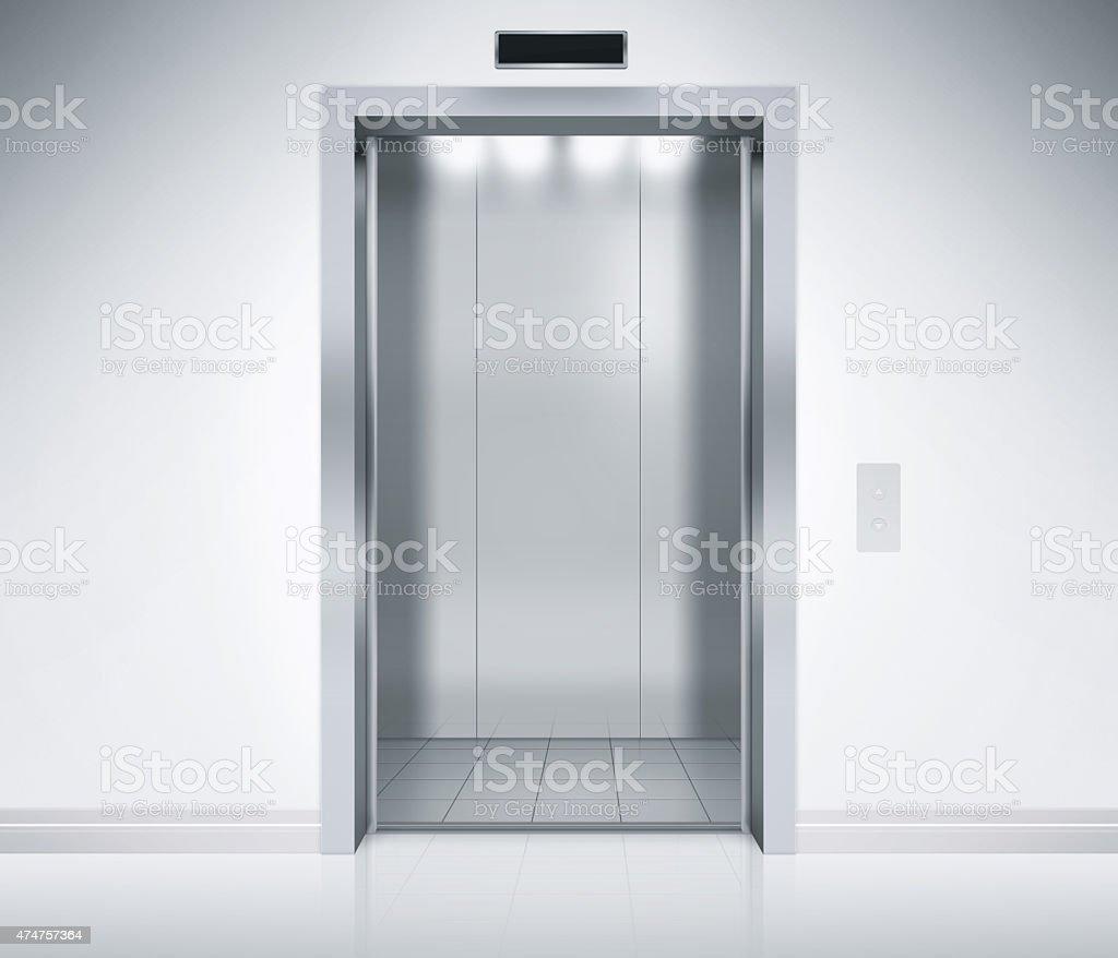 Elevator Doors Open stock photo