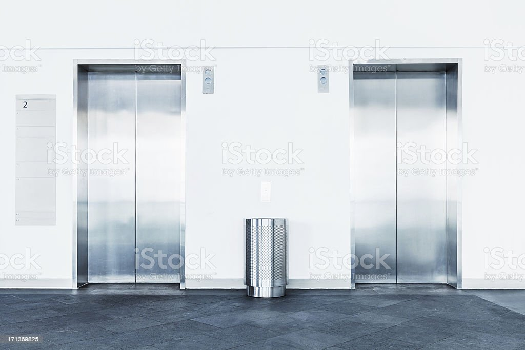 Elevator Doors stock photo