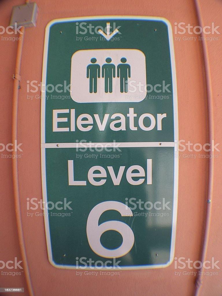 Elevator Down royalty-free stock photo