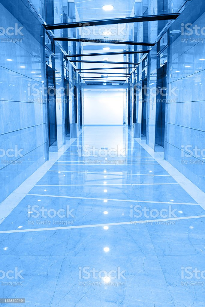 Elevator hallway in the office building royalty-free stock photo