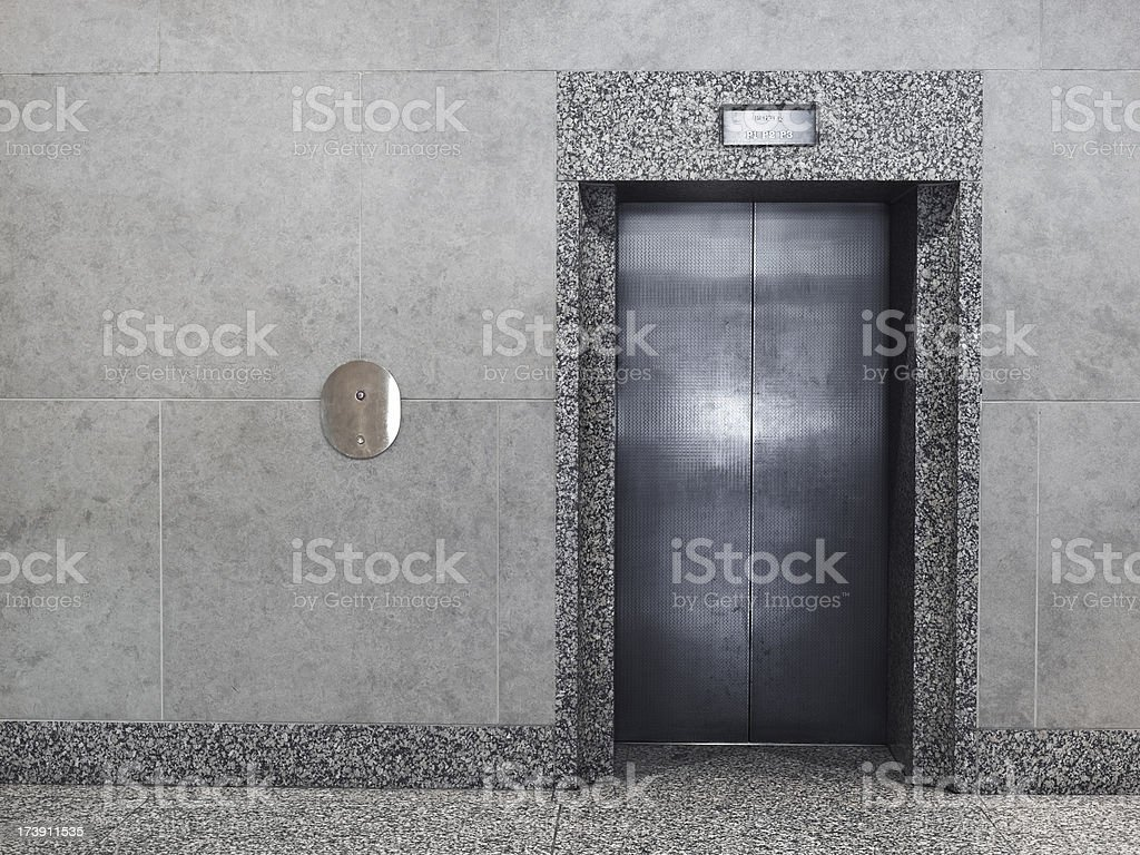 Elevator in a modern office building royalty-free stock photo