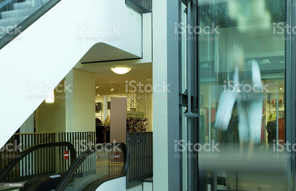 Elevator in a shopping center royalty-free stock photo