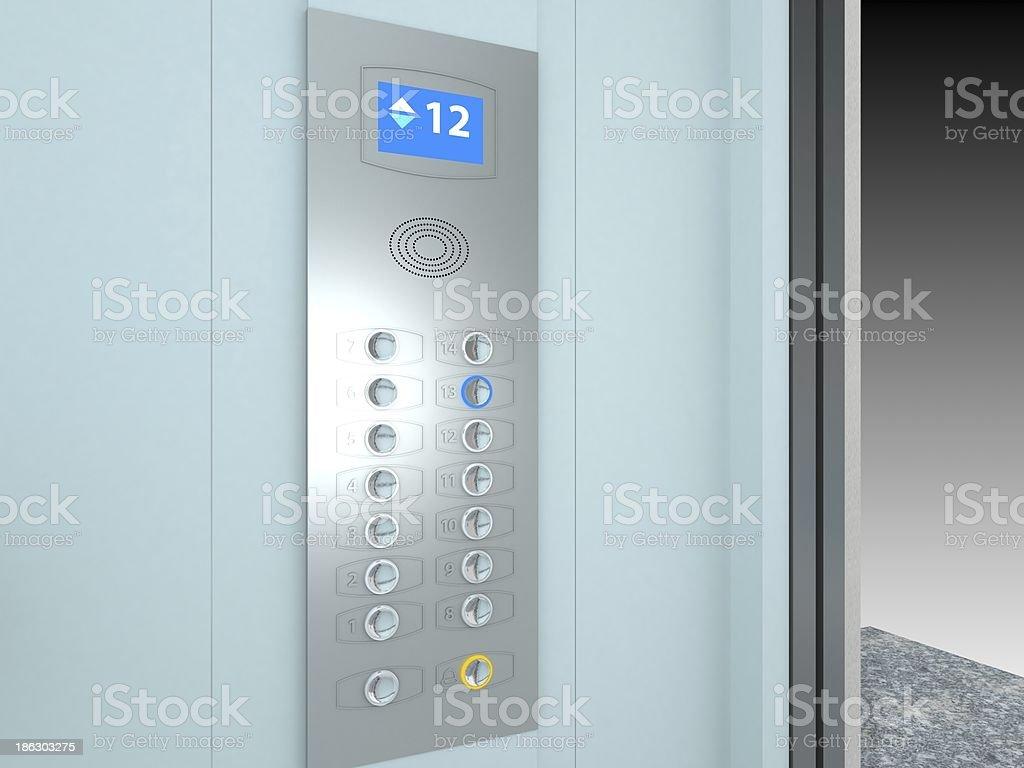 Elevator Interior stock photo