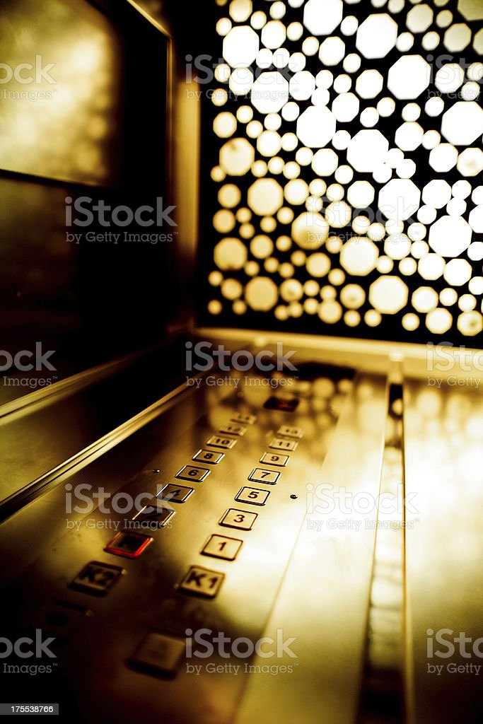 Elevator keypad stock photo