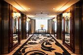 Elevator Lobby in Luxury Hotel