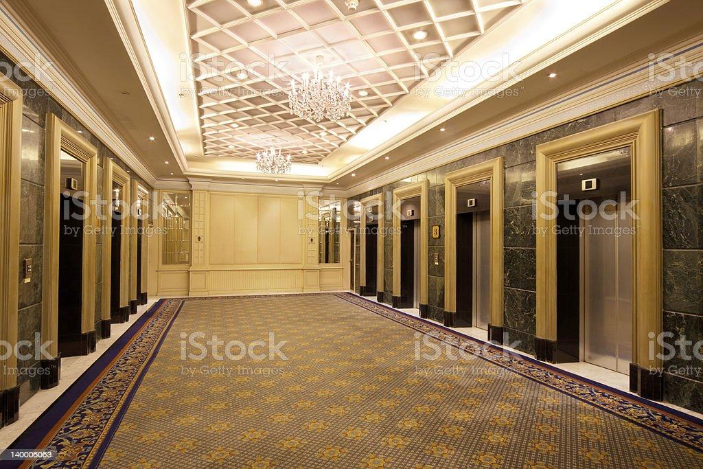 elevator lobby stock photo