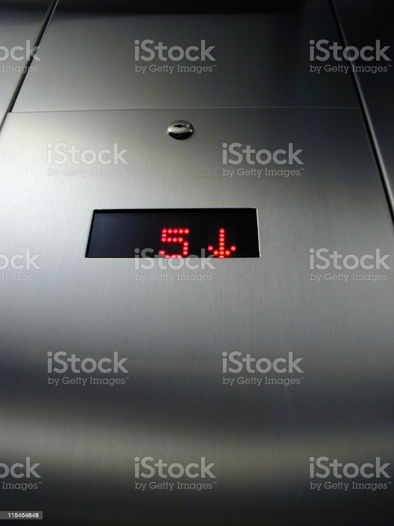 Elevator of Steel stock photo