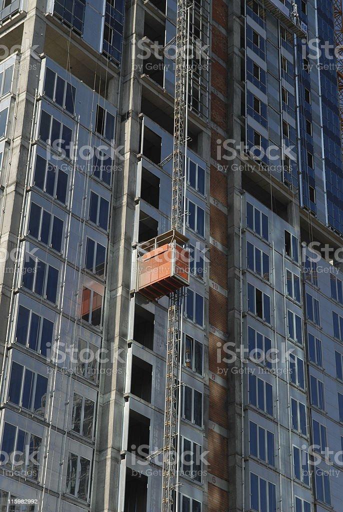 Elevator on Scyscrapers stock photo