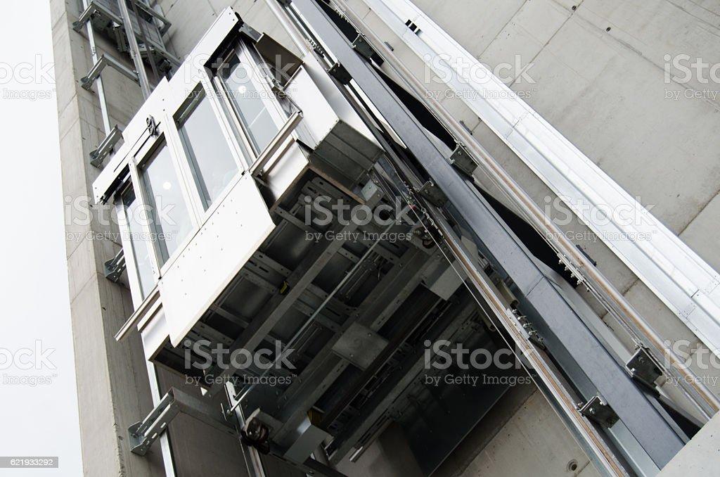 Elevator (detail) stock photo
