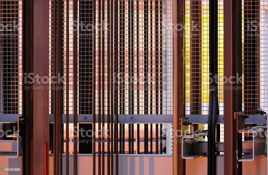 Elevator shaft royalty-free stock photo