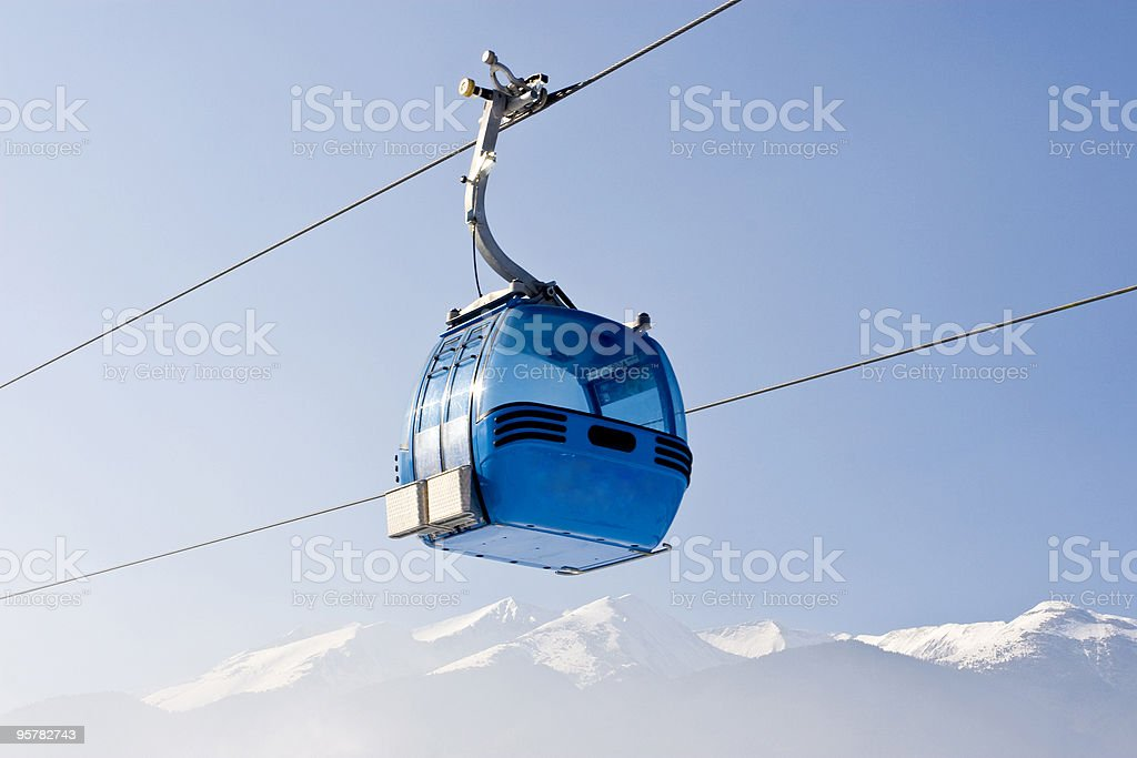 elevator ski cabin royalty-free stock photo
