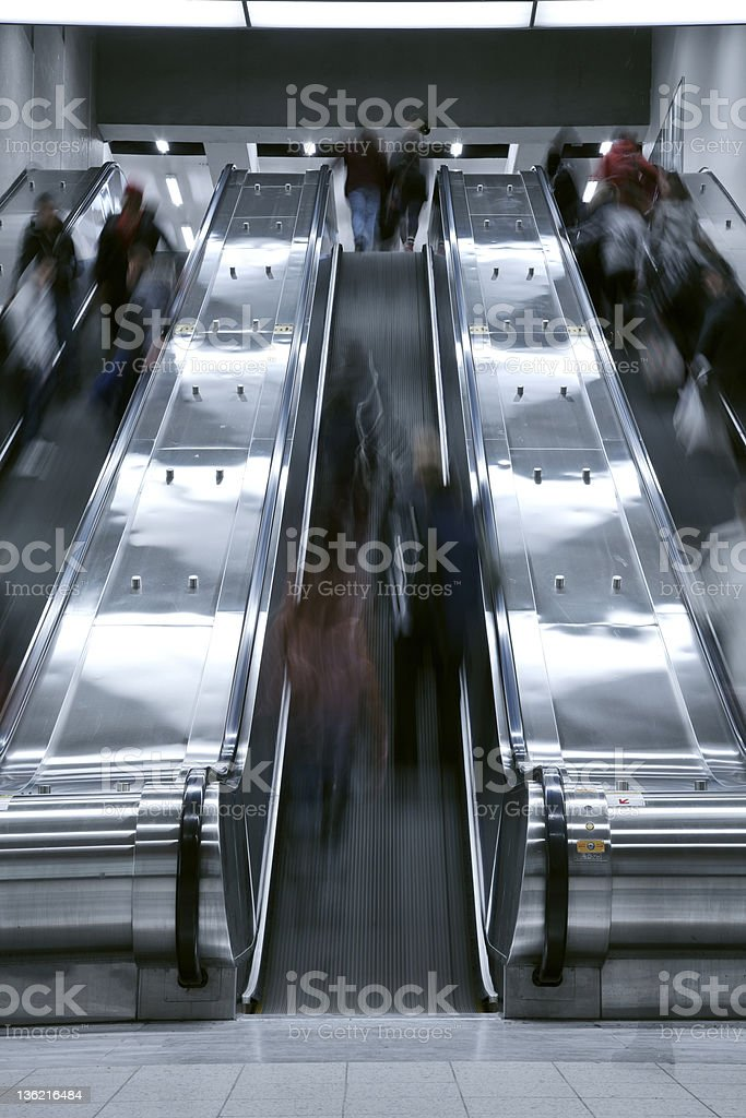 Elevator stair case - rush hour royalty-free stock photo
