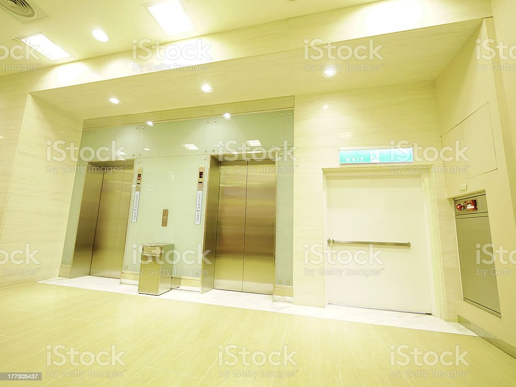 Elevator waiting room royalty-free stock photo