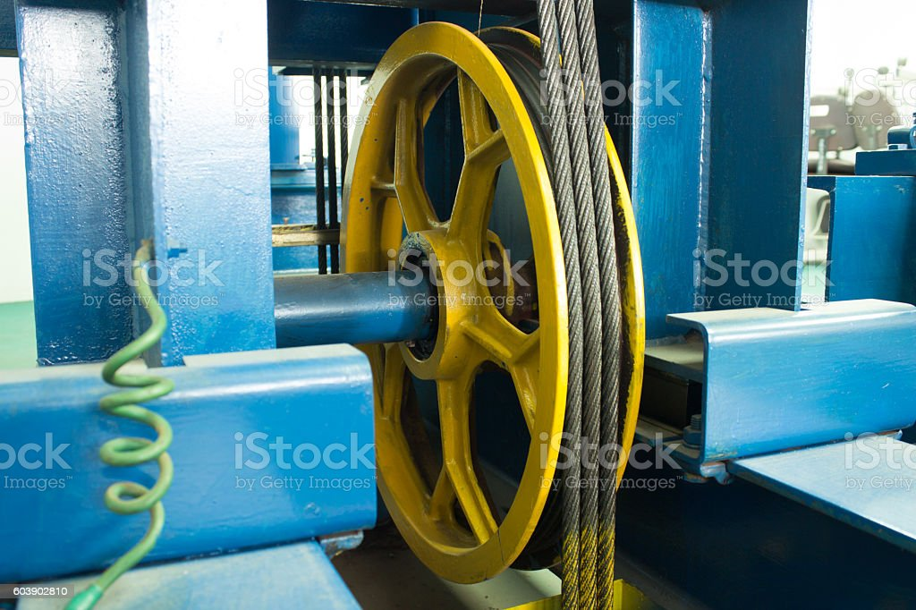 elevator,cable,lift stock photo