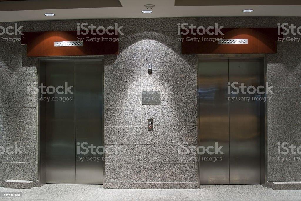 Elevators in Lobby stock photo