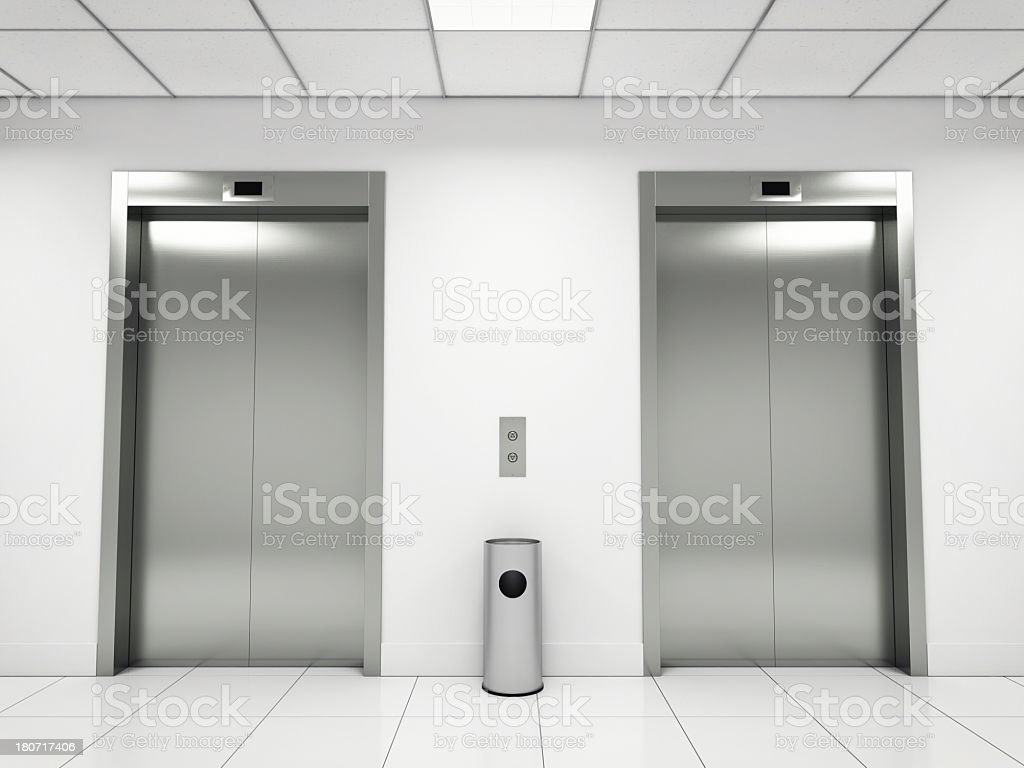Elevators stock photo