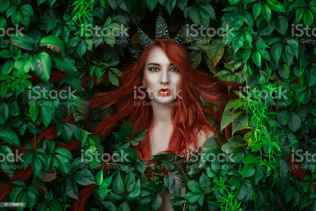 Elf princess portrait stock photo