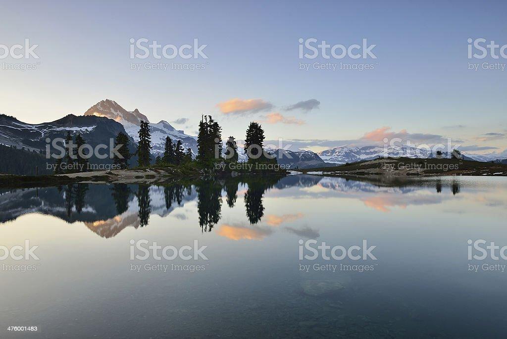 Elfin Lake Sunset stock photo
