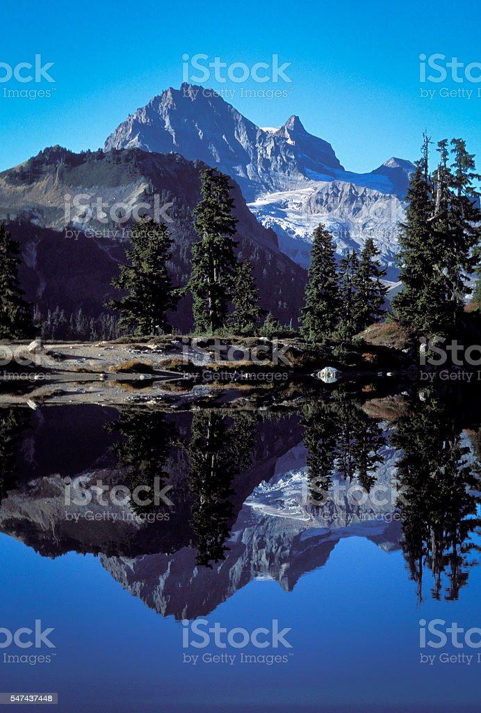 Elfin Lakes in Garibaldi Provincial Park. stock photo