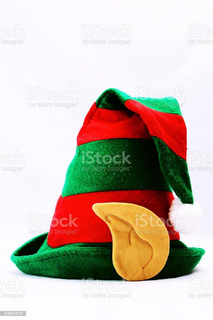 Elf's hat in white stock photo