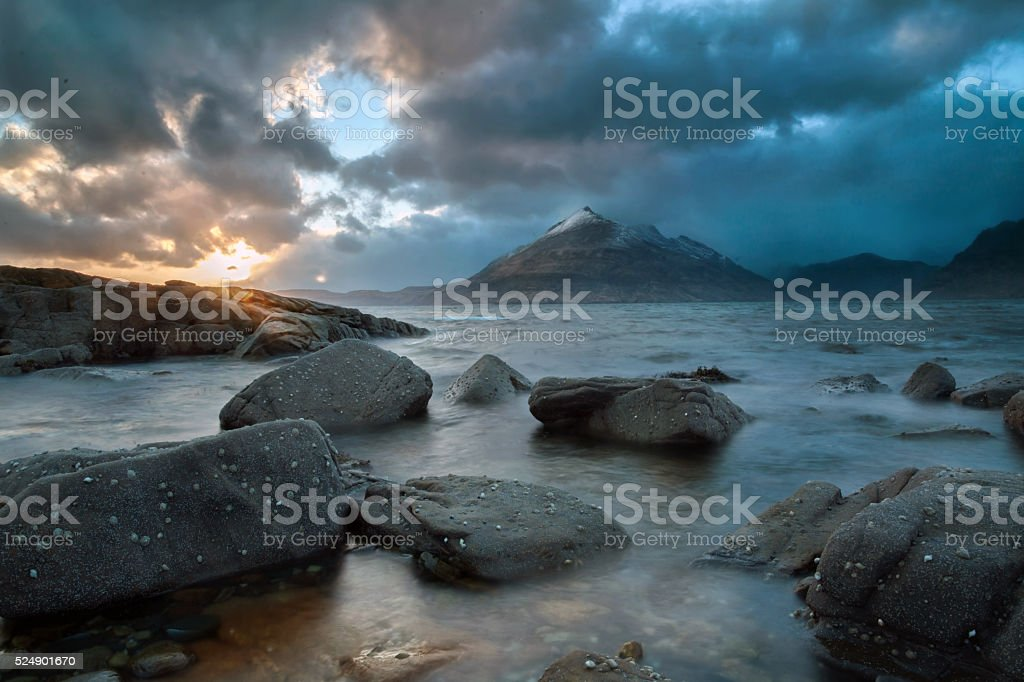 Elgol Sunset. stock photo