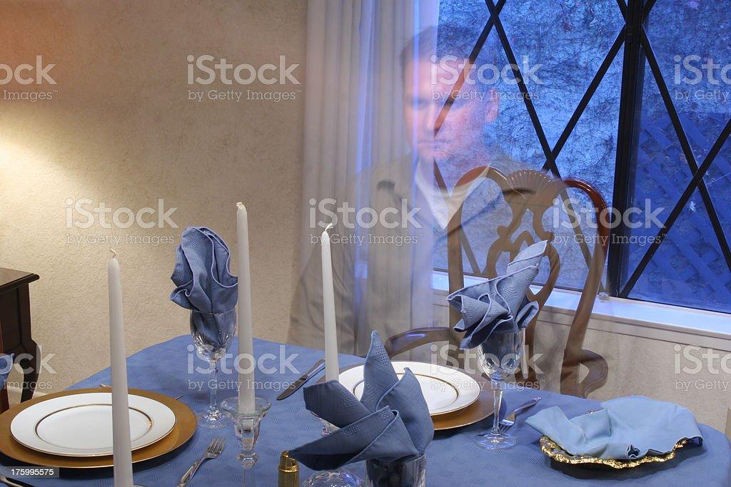 Elijah in the Empty Seat stock photo