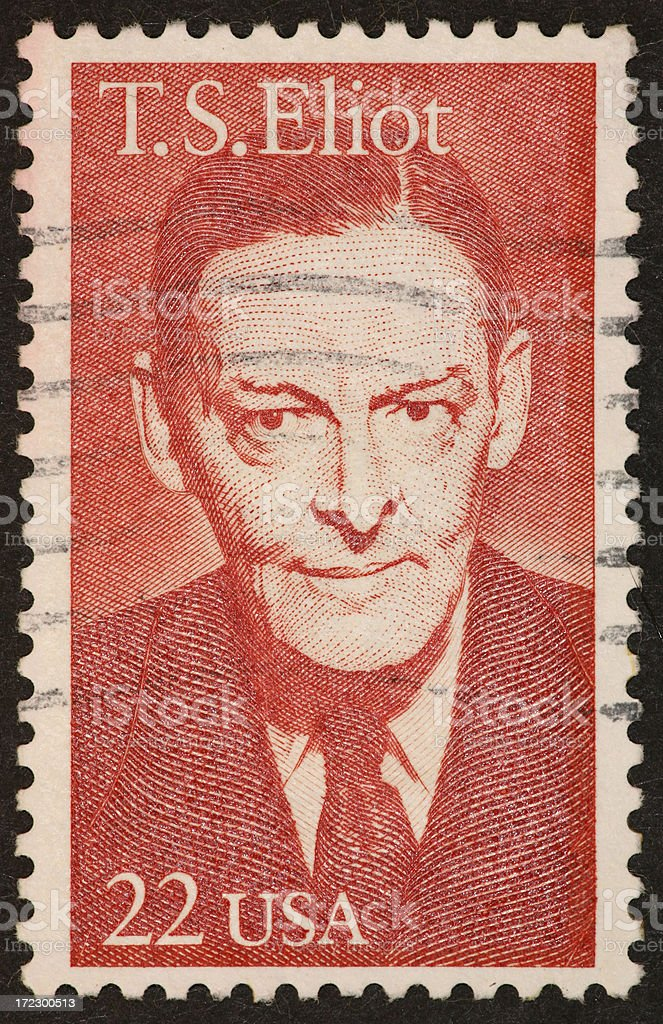 T. S. Eliot stamp stock photo