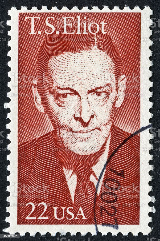 T. S. Eliot Stamp royalty-free stock photo
